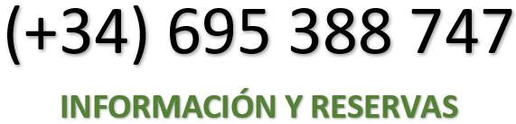 Teléfono y reservas: +34 695 388 747